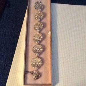 Jewelry - *FIRM* Vintage Duane gold tone rhinestone bracelet